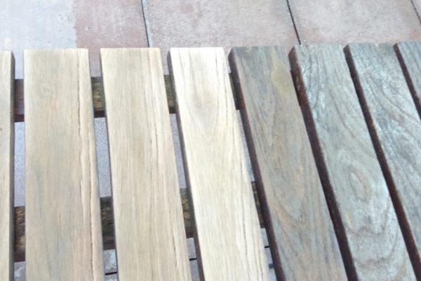 Holzrost verwettert