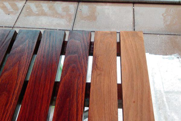Holzrost gestrichen